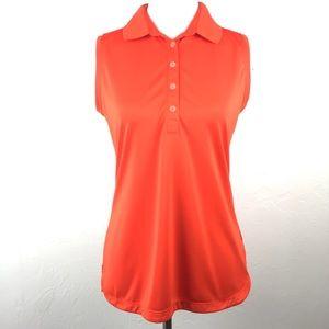 Nike Golf Dri-FIT Orange Sleeveless Polo Shirt